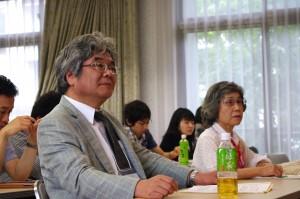 校長先生と特別講演演者の河合紀生子先生